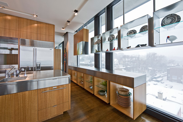 Minneapolis Penthouse Contemporary Kitchen Minneapolis By Altus Architecture Design
