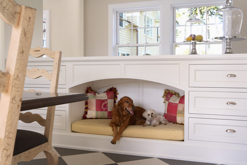House design ideas- Pet Beds. Pet-tastic house design idea is this pet bed island big enough for more than one pet.
