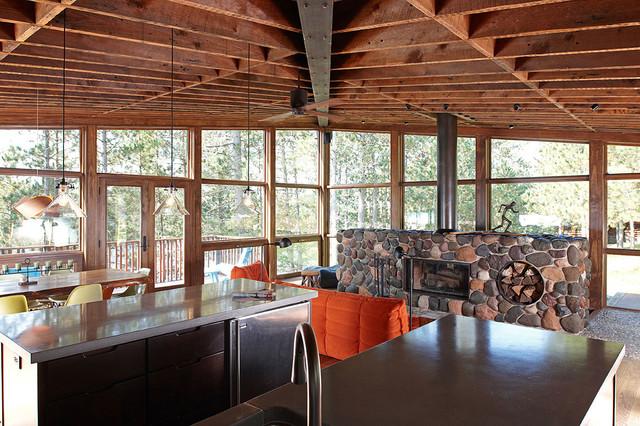 Minong Cabin contemporary-kitchen
