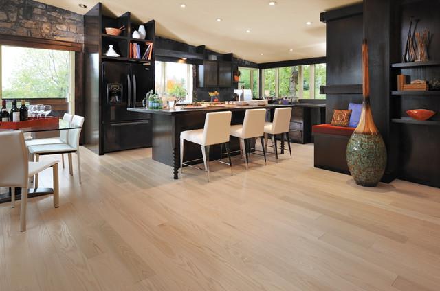 mirage alive red oak isla engineered hardwood flooring - modern