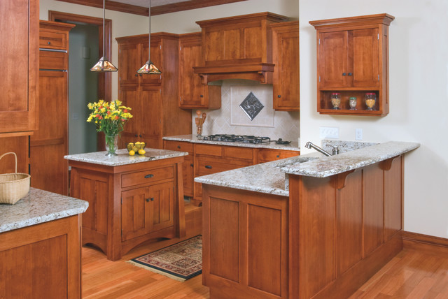 Mission Style Birch Kitchen Craftsman Kitchen Cleveland By