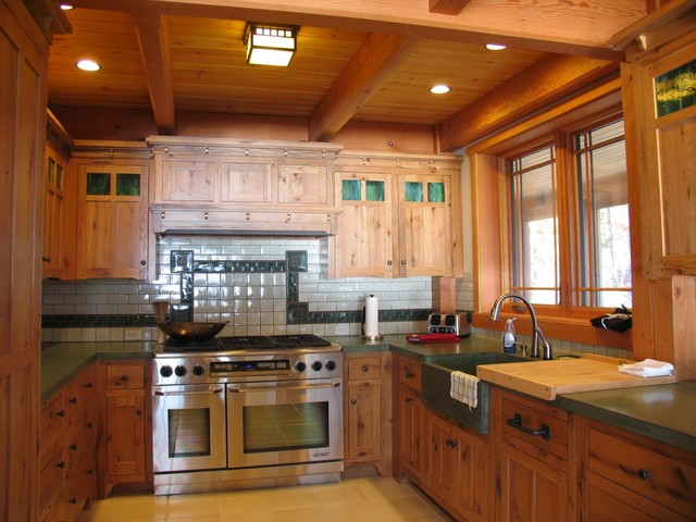 Mission style kitchen traditional kitchen boston for Kitchen cabinets vermont