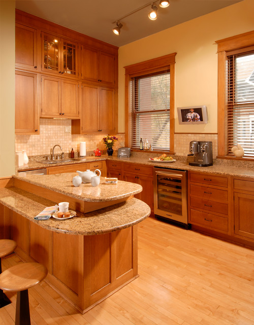 Mission style renovation - Traditional - Kitchen - Chicago - by Jill Jordan