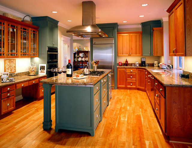 Color Ideas For Kitchens With Wood Cabinets