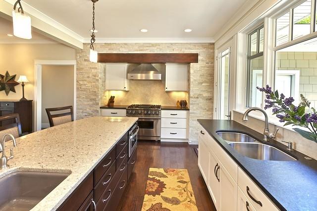 Mixed Materials Kitchen Transitional Kitchen Grand