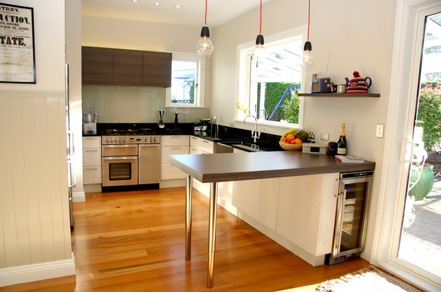 Mixed Traditional Modern Kitchen In Small Space Contemporary Kitchen Auckland By