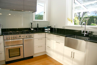 Stainless Steel Butler Sinks Contemporary Kitchen