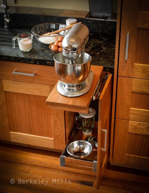 Mixer Storage Contemporary Kitchen