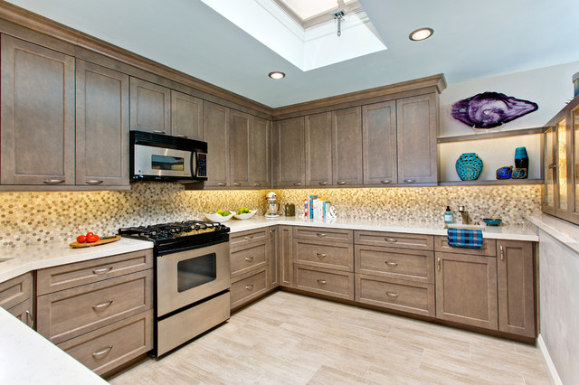 Mixing Taupe With Rustic Elements For A Modern Coastal Kitchen Remodel  Beach Style Kitchen   Taupe