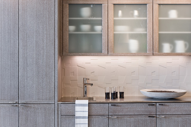 Mizuki in Cerused Grey - Contemporary - Kitchen - boston - by Venegas and Company