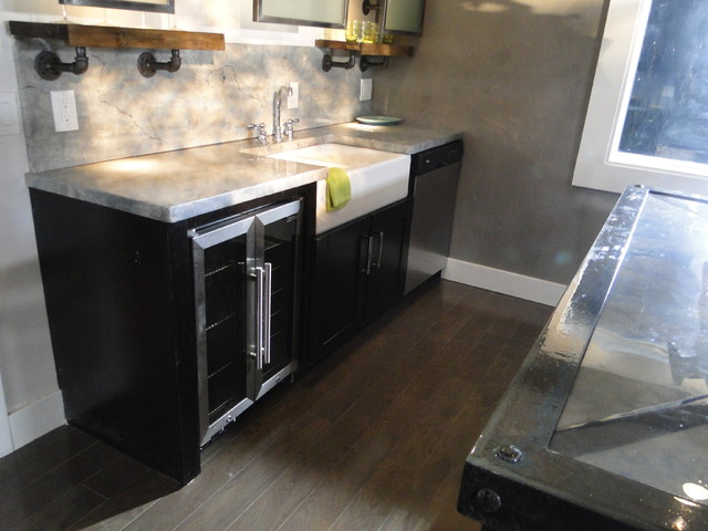 Mocha Shaker-  Industrial Look from House Crashers contemporary-kitchen
