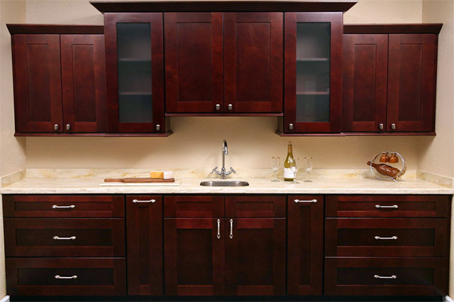 Mocha Shaker Kitchen Cabinets Cabinet Kings