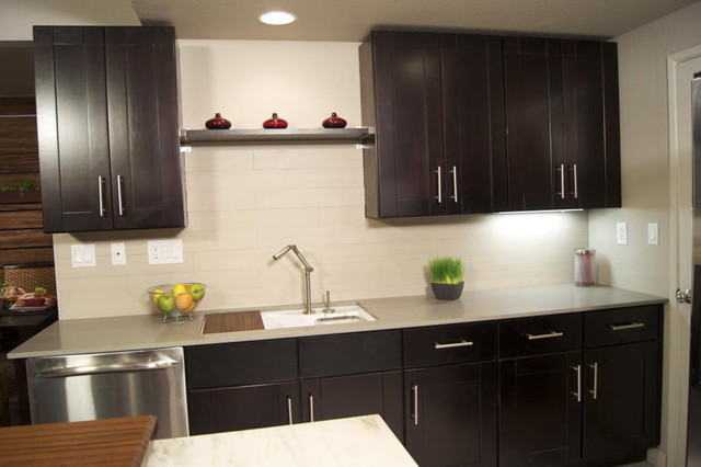 Mocha Shaker Kitchen Cabinets - Kitchen - by RTA Cabinet Store