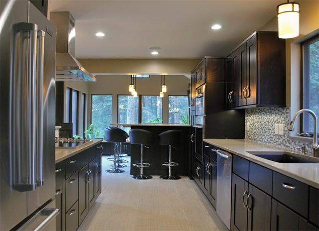 Mocha Shaker Kitchen Cabinets - Kitchen - Philadelphia - by ...