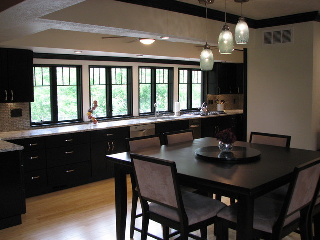 Mocha Shaker Kitchen With Lots of Natural Light - Contemporary - Kitchen - other metro - by RTA ...