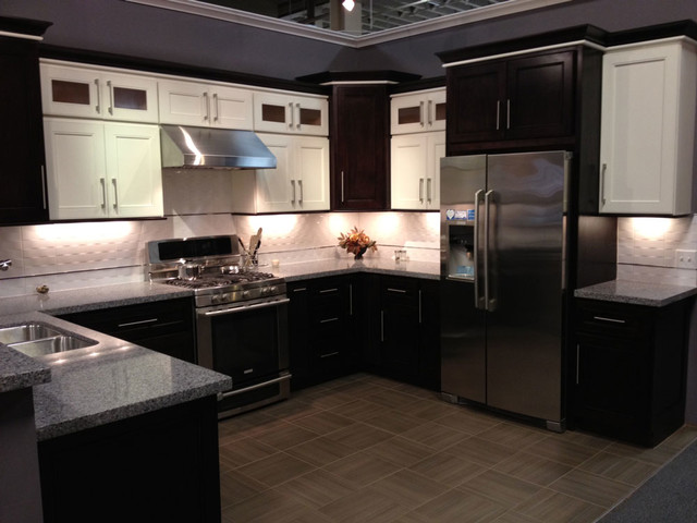 Model 4d chocolate maple recessed panel kitchen cabinets for Best contemporary kitchen cabinets