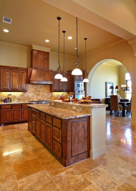 Model Home in Waterford on Lake Travis mediterranean kitchen