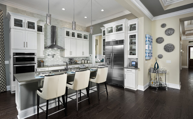 Model home interiors contemporary kitchen orlando for Contemporary model homes