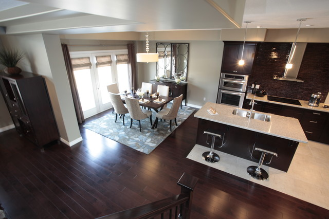 Model Home Kitchen And Dining Room Modern