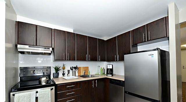 Model show room apartment by capital home staging design traditional kitchen for Capital home staging and design