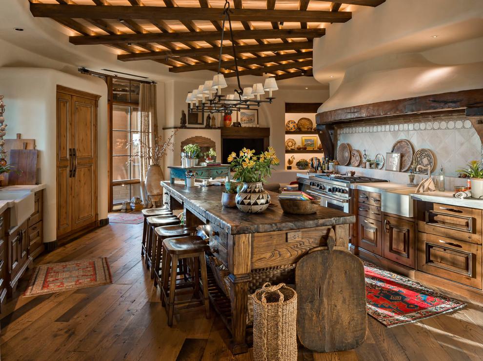 Modern Adobe Southwestern Kitchen Phoenix By Victoria King Design Houzz