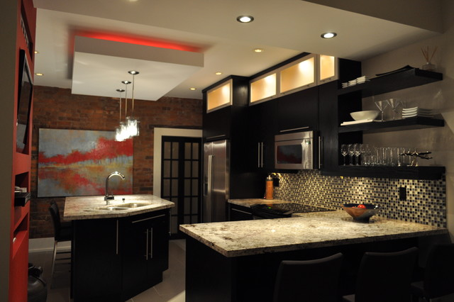 Modern and Colour make a statement! modern kitchen
