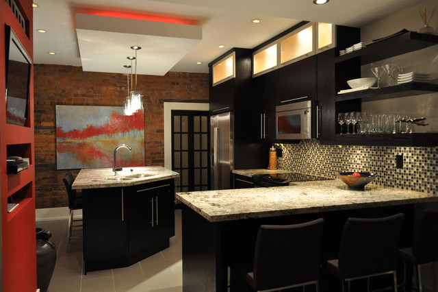 Modern and Colour make a statement! contemporary-kitchen