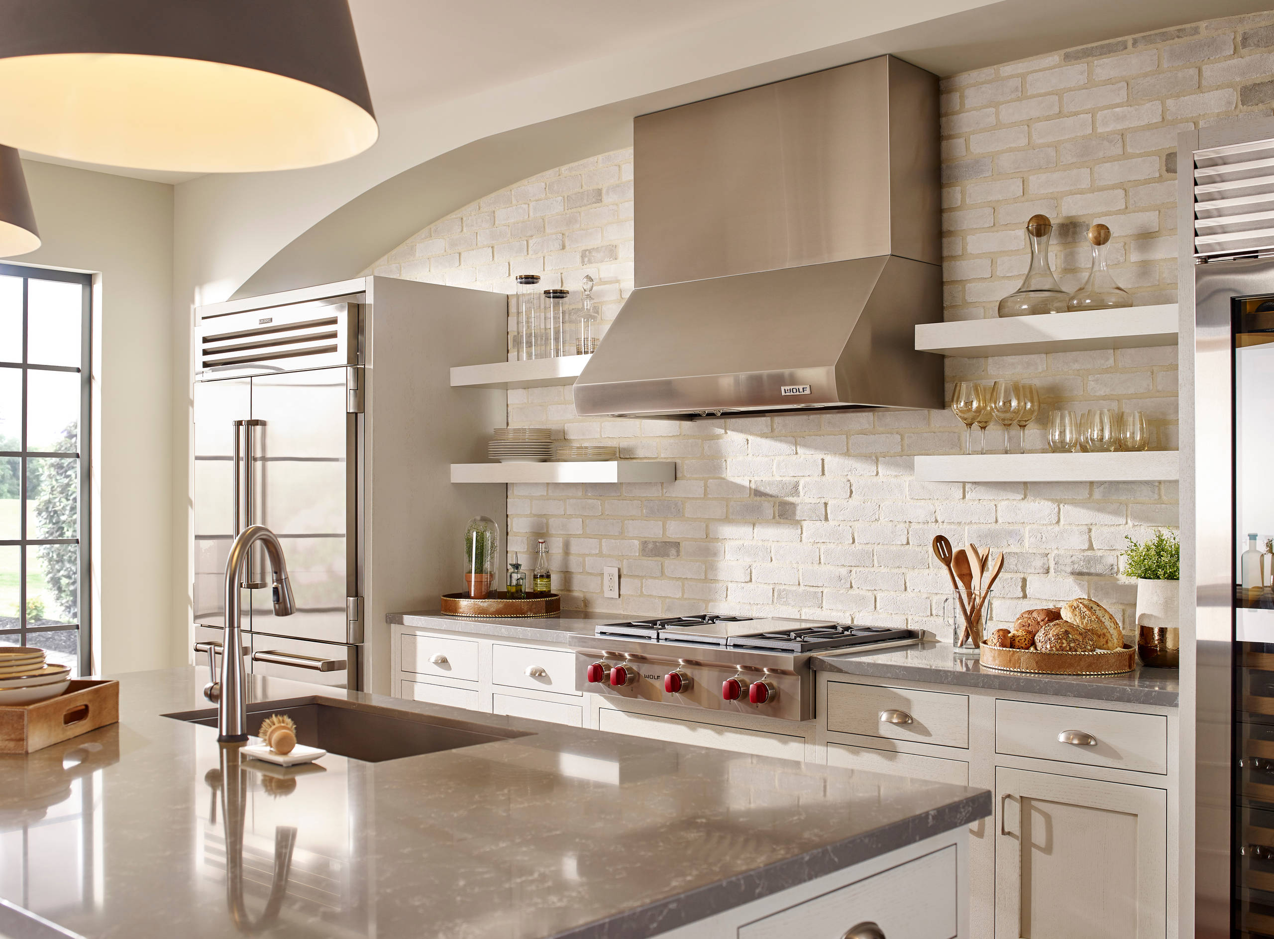 White Washed Brick Kitchen Ideas Photos Houzz