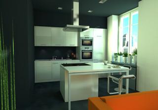 Modern apartment in tenement gdansk modern kitchen for Kitchen furniture glasgow