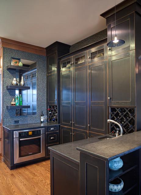Modern Arts Crafts City Kitchen Eclectic Kitchen Chicago By Drury Design
