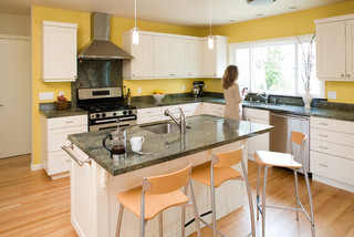 ](http://www.houzz.com/photos/57539/Modern Arts And Crafts Kitchen  With Painted Shaker Style Cabinets Contemporary Kitchen San Francisco)