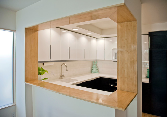Modern Bamboo Kitchen Bar Pass Through Modern Kitchen San Diego By Neal Mcewen