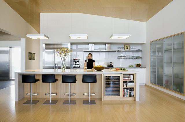 Modern Beach Home Kitchen Contemporary Kitchen Boston By Zeroenergy Design