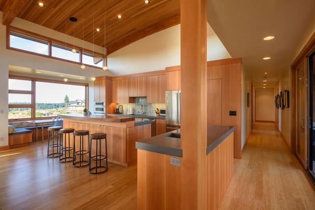 Modern Bend Oregon Home Kitchen Contemporary Kitchen