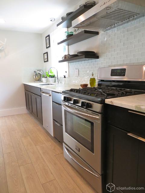Modern Birch Sable Kitchen Update Transitional Kitchen