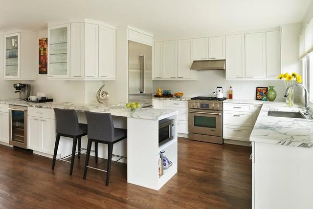 Modern Bright Open Kitchen Design Wins Award From Nkba Contemporary Kitchen