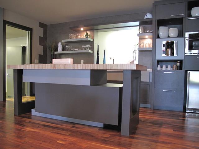 Modern builder showroom modern kitchen omaha by elizabeth monical interior design for Modern showroom exterior design