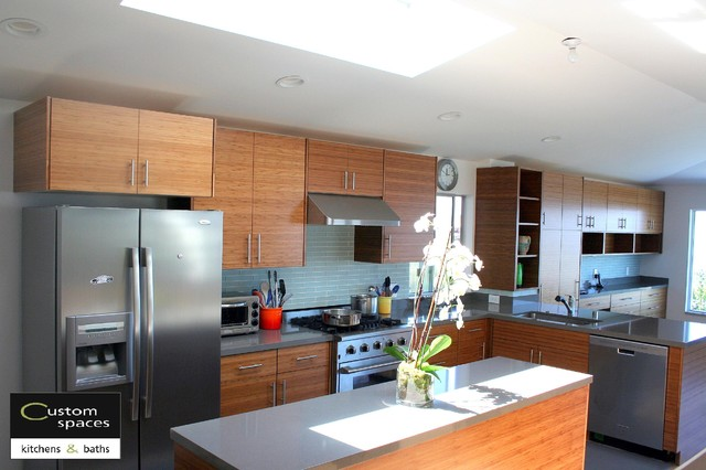 Modern carbonized Bamboo Kitchen - Modern - Kitchen - san francisco - by Custom Spaces Design