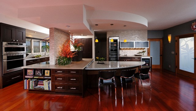 Casual Contemporary Kitchen Designs Interesting Decoration