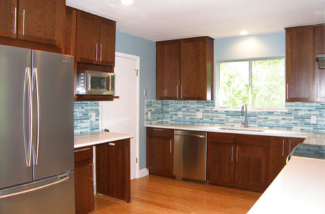 Modern Cherry Cabinets - Contemporary - Kitchen - Austin ...