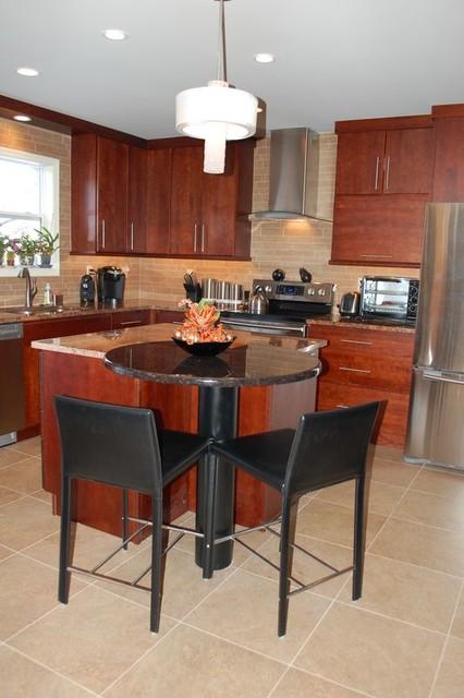Modern Cherry Kitchen contemporary-kitchen