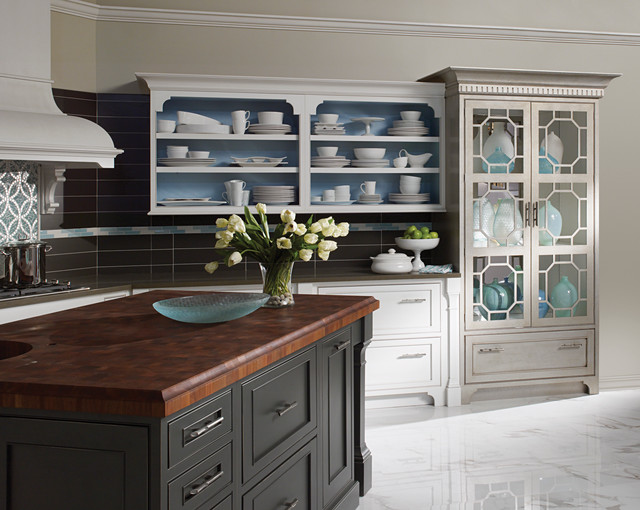 Modern Chinoiserie Traditional Kitchen Other By