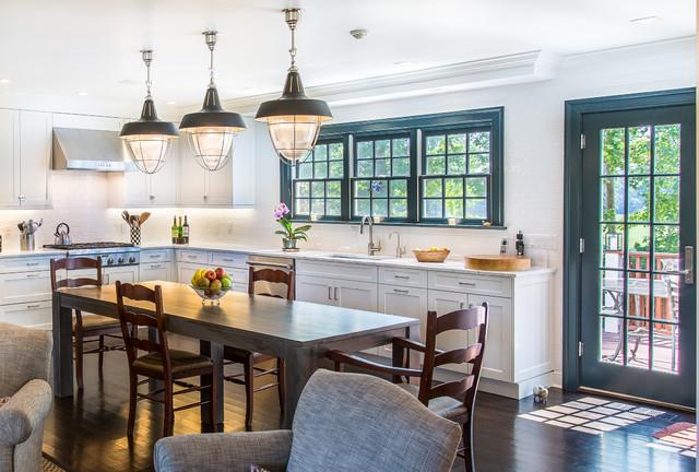 Modern Colonial Kitchen In Westchester County Transitional Kitchen New York By Karen Berkemeyer Home Houzz