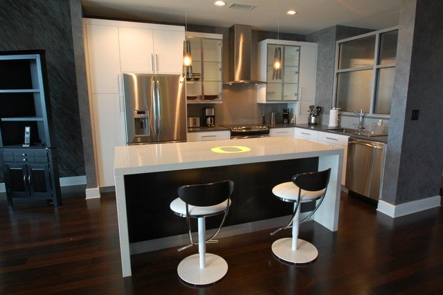 Modern contemporary bachelor pad contemporary kitchen for Bachelor pad kitchen ideas