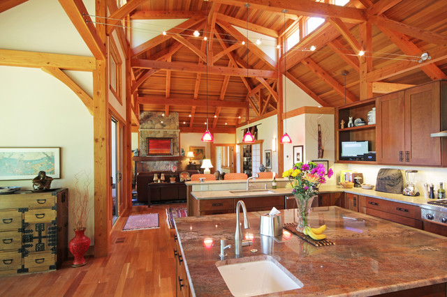 Modern contemporary post and beam home contemporary for Modern post and beam house plans