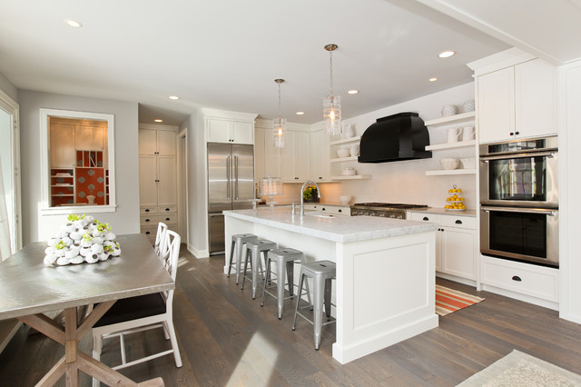 Example Of A Trendy Kitchen Design In Minneapolis With Stainless Steel  Appliances