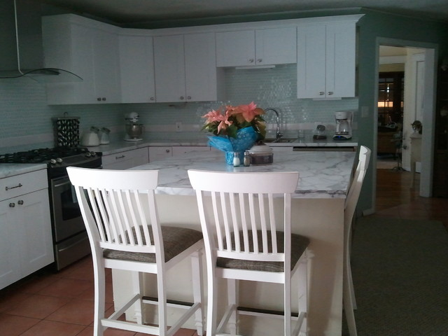 Modern Cottage On A Budget Traditional Kitchen Portland Maine By Pain