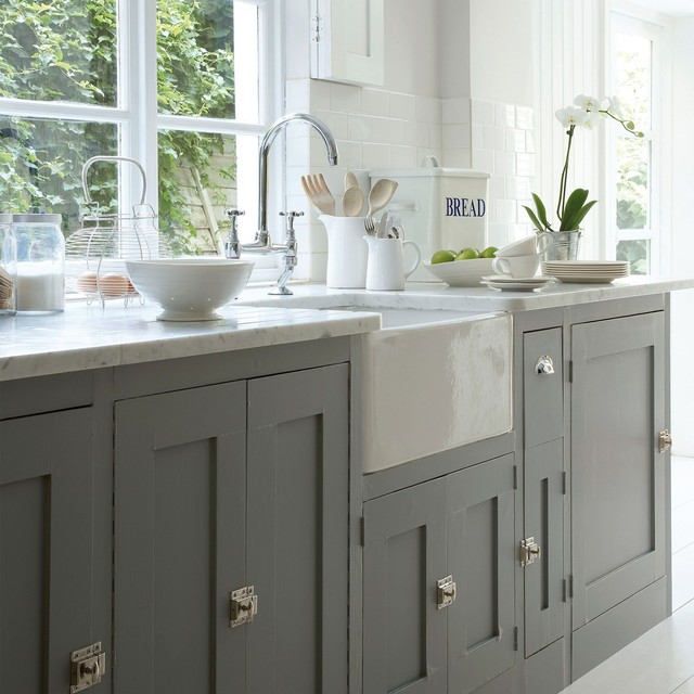 Modern Country Kitchen In Shades Of Grey Contemporary Kitchen