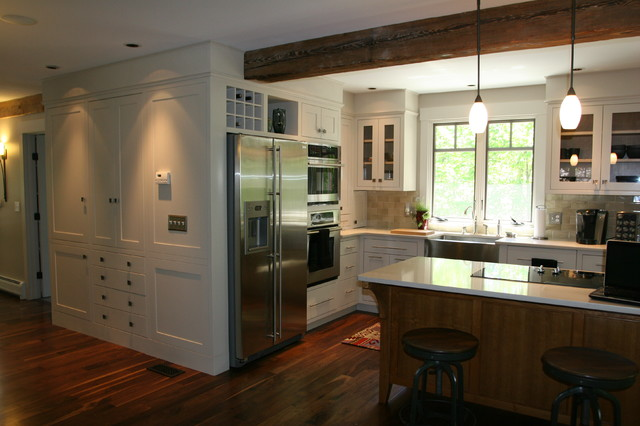 modern craftsman renovation - transitional - kitchen - portland