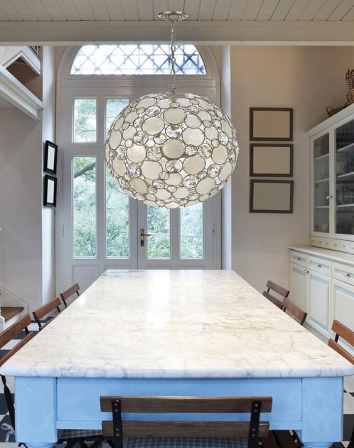 Modern crystal and capiz shell round pendant chandelier modern crystal and capiz shell round pendant chandelier contemporaneo cocina aloadofball Gallery